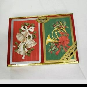 Vintage Congress Playing Cards Christmas